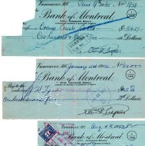 Image of W. Pieper cancelled cheques p1 front