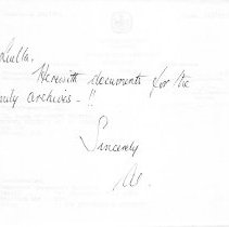 Image of Note to Luella Duncan