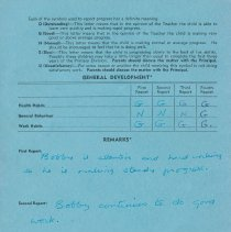 Image of Bob Fielding's report card 1960 p2