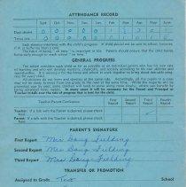 Image of Bob Fielding's report card 1960 p4