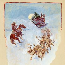 Image of Santa and Reindeer by Charles M. Russell