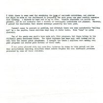 Image of Report on teacher 1961 page 2