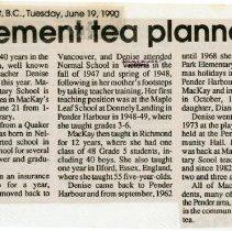 Image of Retirement tea planned for Denise Mackay