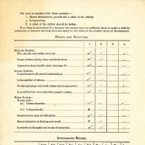 Image of John Little's report card 1943-44 p2