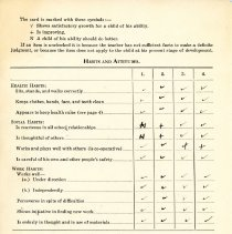 Image of John Little's report card 1944-45 p2