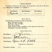 Image of John Little's report card 1945-46 p4