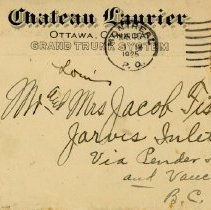 Image of Envelope front, to Jacob Fischer from Harry Haskamp