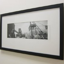 Image of Van De Zande, Doug - Untitled image of a backhoe and crane with buildings behind them, October 2007