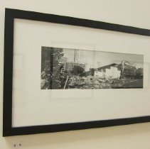 Image of Van De Zande, Doug - Untitled image of wreckage with backhoe and cranes in background, May 2007