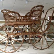Image of Wicker baby carriage
