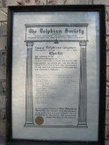 Image of The Delphian Society Charter of Golden, 1929