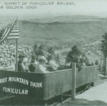 Image of Summit of Funicular Railway, Near Golden, Colo