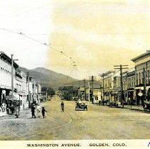 Image of Washington Ave. Golden, CO, 1914