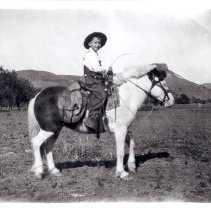 Image of Clyde Mannon on his pony