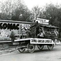 Image of Duvall-Davison Lumber Co. parade float-Yesterday