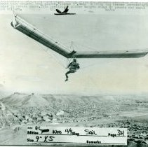 Image of Hang gliding in Golden, 1974