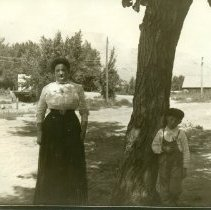 Image of Unidentified woman and boy in Golden