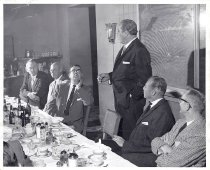 Image of Max Baer speaking at Holland House