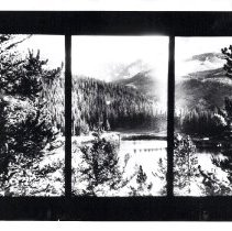 Image of Echo Lake and Mount Evans photo mural by Hopwood at the Holland House