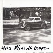 Image of Mel James Coolbaugh's Plymouth coupe
