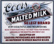Image of Coors Malted Milk sign
