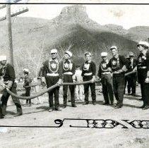 Image of Loveland Hose Company with hose