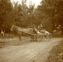 Image of Wannemaker with horse and wagon