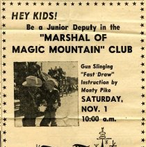 Image of Magic Mountain Marshal Club ad