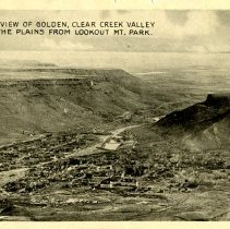 Image of 1469, View of Golden from Lookout Mountain back