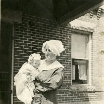 Image of Carrie Parfet holding Baby William G. Parfet