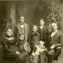 Image of George Washington Parfet Sr. and family, cropped