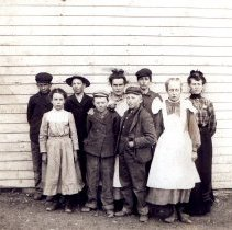 Image of Tripp Kids at Robinson Hill Schoolhouse