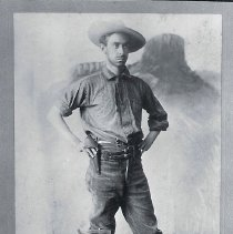 Image of Formal portrait of geologist with Castle Rock