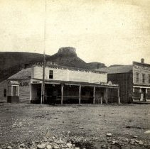 Image of Cheney's Saloon and Wm. Loveland Building