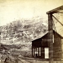 Image of Depot of the Colorado Central Depot Railroad at the Forks of the Creek