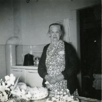 Image of Margaret Jane Grenfell in her kitchen