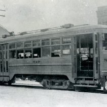 Image of Denver & Interurban Streetcar with Castle Rock