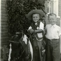 Image of Bob and Chester Petrie with pony