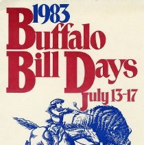 Image of 1983 Buffalo Bill Days Poster