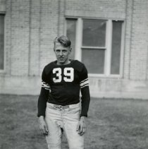 Image of Bob Taylor wearing Golden High football uniform