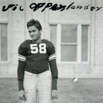 Image of Vic Oppenlander in Golden High Football uniform