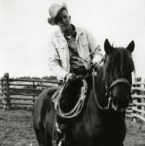Image of Jack Pearce on his horse Sancho