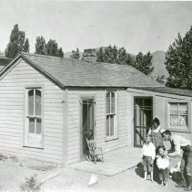 Image of Hemberger Family in front of their house