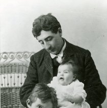 Image of George M. Kimball with childre