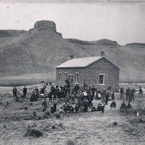 Image of Golden's earliest school located near 15th and Washington Avenue