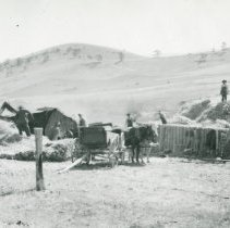 Image of Threshing oats at the Douglas Mountain Ranch on Robinson Hill