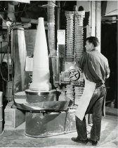 Image of Turning a Missle Nose Cone at Coors Porcelain Co.