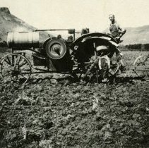 Image of Jim Mannon with First Tractor