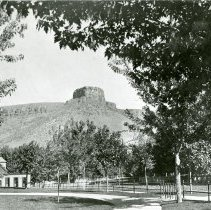 Image of Castle Rock viewed from South School