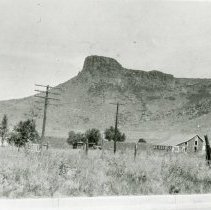 Image of Castle Rock and farm houses
